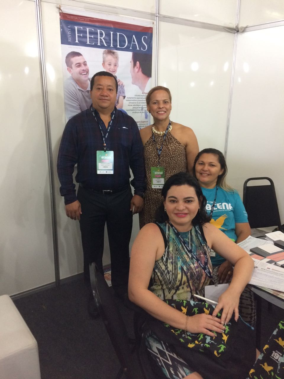 Presidente do CBCENF visita o stand da Revista Nursing